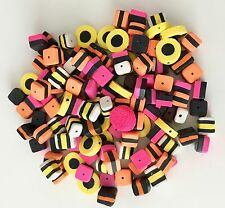 120  FIMO POLYMER CLAY LIQUORICE ALLSORT BEADS