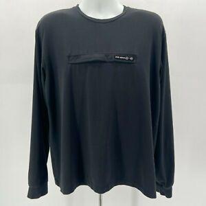 Vintage Polo Sport Ralph Lauren Zipper Pocket Black Shirt Mens Large