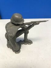 "VINTAGE MARX WW2 GERMAN SOLDIER 6"" tall.  1963  Rare Sitting Pose"