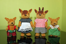 Vintage 1980s Rare Sylvanian Calico Critters Forest Families Rare Deer Family