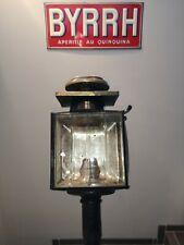 Ancienne lampe lanterne à bougie fiacre calèche XIX ème signée DJ PARIS BOUTREUX