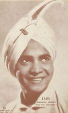 SABU (DANTOGIR) INDIAN FILM ACTOR ARCADE CARD/POSTCARD 1945
