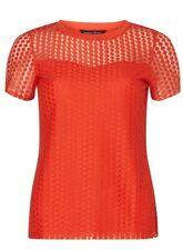 Dorothy Perkins Red Spot Mesh T-Shirt Size UK 18 EU 46 NH190 NN 01