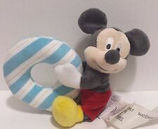 Disney Baby Mickey Mouse Plush Rattle -Baby Pastel Disney Parks NEW no tags