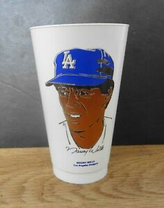 1972 7-11 Slurpee Cup MAURY WILLS Los Angeles Dodgers  7 Eleven NM