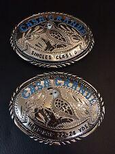 Casa Grande 2 Belt Buckles . Turquoise Inlay (single Class B, Handicap22-24 Yrds