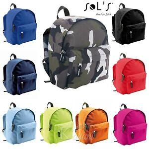 Kids SOLS Twin Shoulder Strapped Bag Rider School Bag Travel Backpack Rucksack