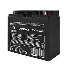 Batterie gel rechargeable 12V 20Ah sans entretien AGM LX12200