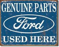 Ford Motors Parts Metal Tin Ad Sign Dealership Mechanic Garage Auto Decor Gift