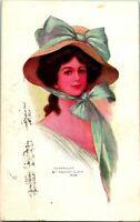 Vtg 1908 Postcard Archie Gunn Artist SIgned - Taylor & Platt Co. NY