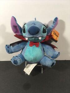 "Disney Halloween Vampire Stitch Halloween Plush 7"" Lilo & Stitch NEW With Tags"