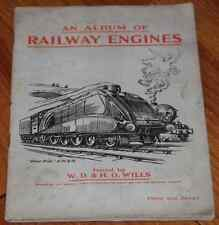 ANCIEN CARNET IMAGE CHROMO 1924 CIGARETTES WD & HO WILLS RAILWAY LOCOMOTIVES !
