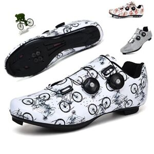 Men Cycling Shoes Racing Bike Trainers Professional Bicycle Sneakers SPD Cleats