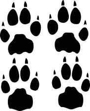 CHEETAH track / footprint sticker / paw print decal