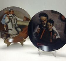 The painter/Music Maker Norman Rockwell Heritage Collection Lot of 2 plates Nib