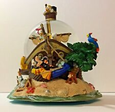 Disney Snow Globe Music Box Tune All in the Golden Afternoon 19506 Pirate Ship
