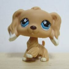 Littlest Pet Shop Collection LPS Figure #748 White Dipped Ears Cocker Dog D1