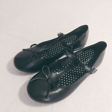 Jelly Beans Shoes Girls 3 Black Ash Mary Jean Slip on Buckle Bow Flats