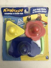 Aqua Doodle Stampers And Stamp Pad 3 Pack Brand New By Spin Master
