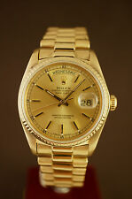 ROLEX OYSTER PERPETUAL DAYDATE 18K VOLLGOLD AUTOMATIK REF 18038 + BOX NICE COND.