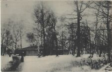 WW1 GERMAN SOLDIERS HOME Mess Eastern Front RUSSIA Snow Vintage PC c1916