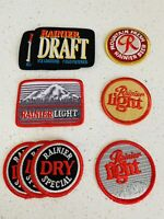 Rainier Draft Beer Patches, Rainier Light, Rainier Dry Special Patches