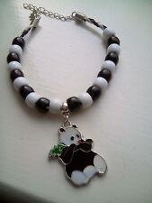 panda charm & bead bracelet