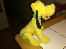 Vintage Disney Pluto Green Collar Plush Stuffed Animal 8 inches tall