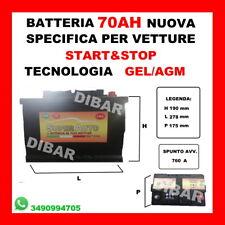 BATTERIA  70AH NUOVA START&STOP AGM SPUNTO 760 KIA 22