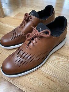 Cole Haan 2.0 ZeroGrand Lined Brown Laser Wingtip Oxford Shoe Men's Size 8.5