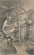 POSTCARD     SOCIAL HISTORY  SCOTLAND  Hand - Loom  Weaving