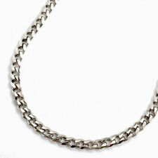 925 Sterling Silver Rhodium Plated 4mm-w. 6-Cut Curve Link Chain Necklace 19.5""