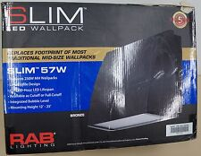 New listing Slim Led Light Rab Lighting Slim 57W Bronze Wall Pack