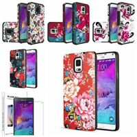 Fits Samsung Galaxy Note 5 Case, Rubber Heavy Protective Cover + Tempered Glass
