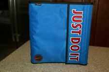 Nike JUST DO IT! Mead 3 Ring Binder Vintage Rare Blue 90's School Notebook