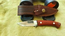 "D2 HANDMADE 7.5"" HUNTING-SKINNING-BEAUTIFUL MIRROR POLISH BLADE BUSH CRAFT KNIFE"