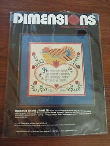 Dimensions Heritage Colonial Home Sampler Stamped Cross Stitch Charles Wysocki