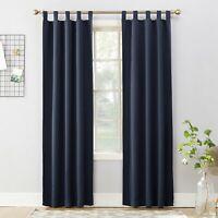 "Sun Zero Kenneth Blackout Tab-Top (1) Curtain Panel Navy Blue 40"" X 63"""