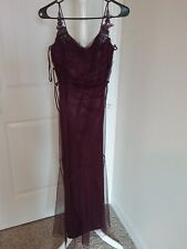 Womens Long Dresses Evening formal party Size 6 color Burgundy