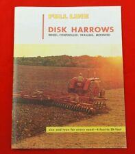 Ih Farmall Full Line Disk Harrows Brochure Wheel Controlled Trailing Mounted