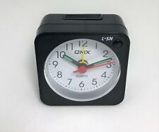 Qmx Small Mini Alarm Clock Portable Desk Quartz Travel Snooze Easy To Read