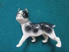 England Boston Terrier Dog Figurine [*A]