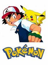 Pokemon Iron On Transfer Light or Dark Fabrics 5 x 7 Size