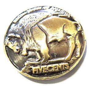 concho American buffalo Gothic biker wallet screw snap gold