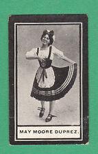 WILLS  SCISSORS - RARE MUSICAL HALL CELEBRITIES CARD - MAY MOORE DUPREZ -  1911