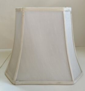 "12"" Lamp Shade Traditional Ivory Box Shape"