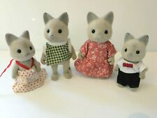 SYLVANIAN VINTAGE SOLITAIRE CAT FAMILY - ALL WITH TAILS
