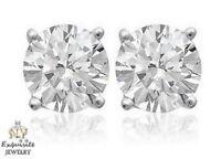 CERTIFIED .80ct ROUND-CUT F/VS2 DIAMONDS IN PLATINUM STUDS EARRINGS