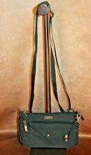 BAGGALLINI SMALL GREEN BAG WITH ADJUSTABLE CROSS BODY STRAP AND HANDLE