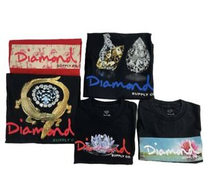 Lot of 5 Diamond Supply Co and Primitive Skateboard Shirts Men's XL Streetwear